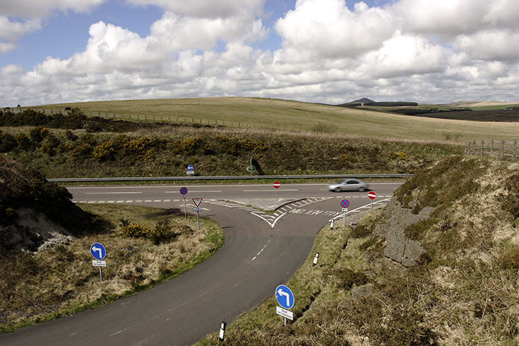 The A30, Bodmin Moor, Cornwall